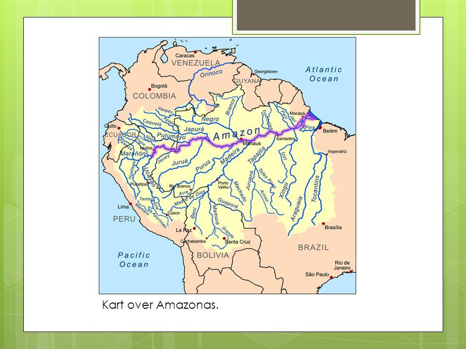 Kart over Amazonas.