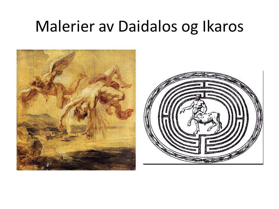 Malerier av Daidalos og Ikaros