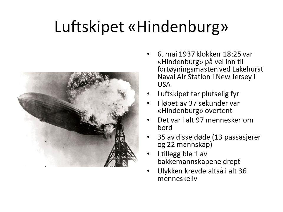 Luftskipet «Hindenburg» 6.