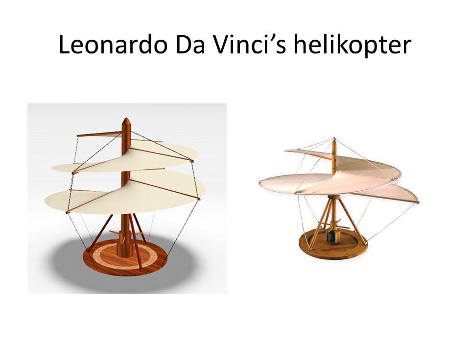 Leonardo Da Vinci's helikopter