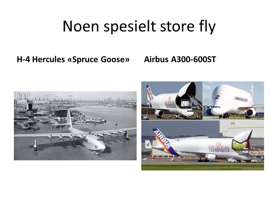 Noen spesielt store fly H-4 Hercules «Spruce Goose»Airbus A300-600ST