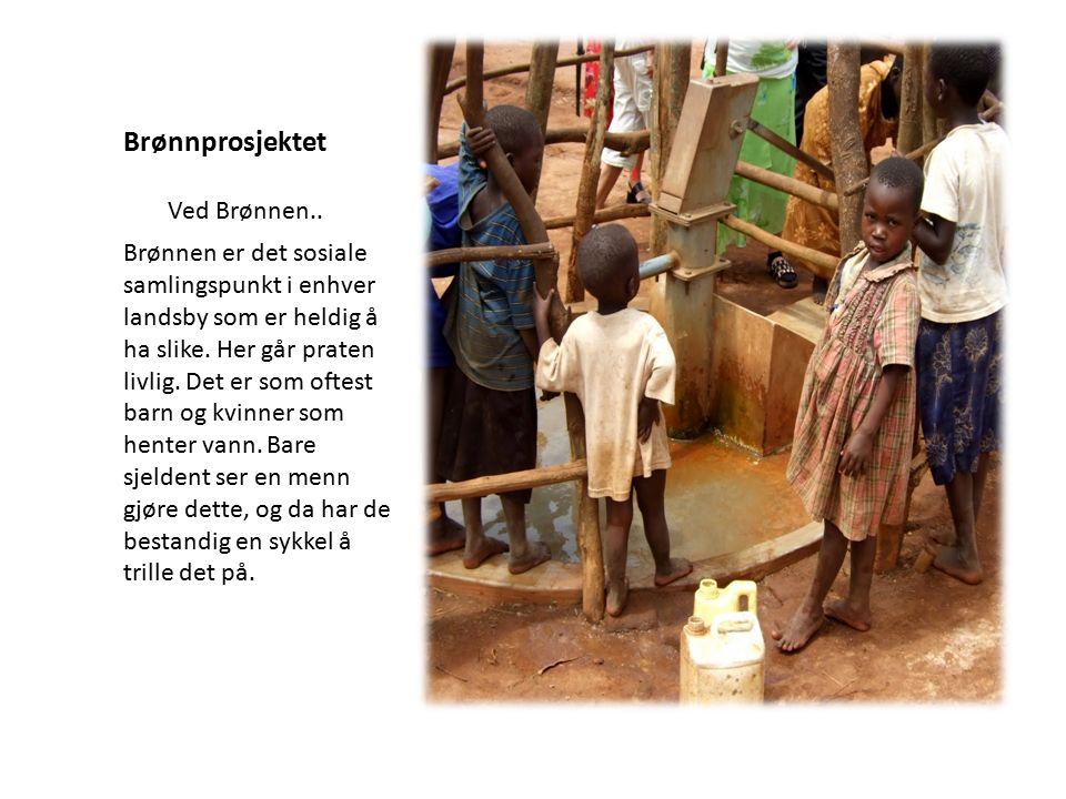 Brønnprosjektet Brønnen er det sosiale samlingspunkt i enhver landsby som er heldig å ha slike. Her går praten livlig. Det er som oftest barn og kvinn