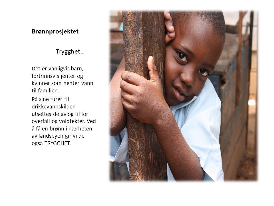 Brønnprosjektet Det er vanligvis barn, fortrinnsvis jenter og kvinner som henter vann til familien.