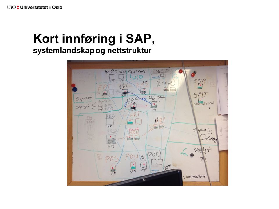 Kort innføring i SAP, systemlandskap og nettstruktur