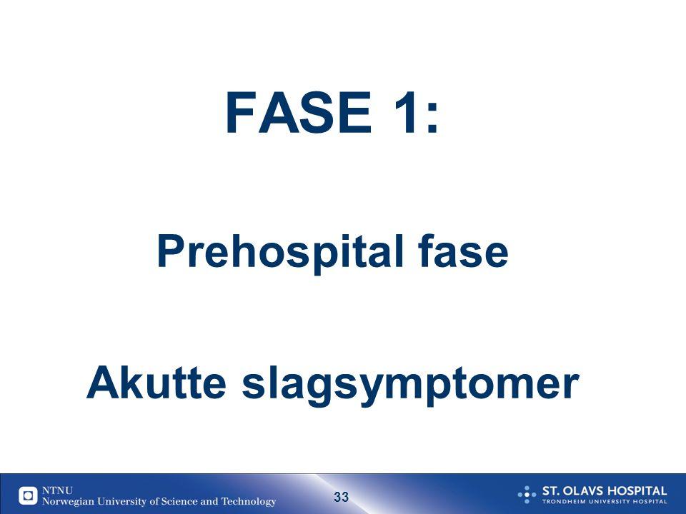 32 Diagnostikk/Utredning ved TIA Legevakt/fastlege: Tilse pas.