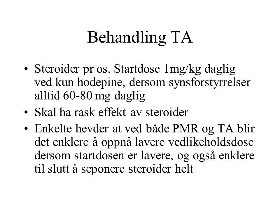 Behandling TA Steroider pr os.
