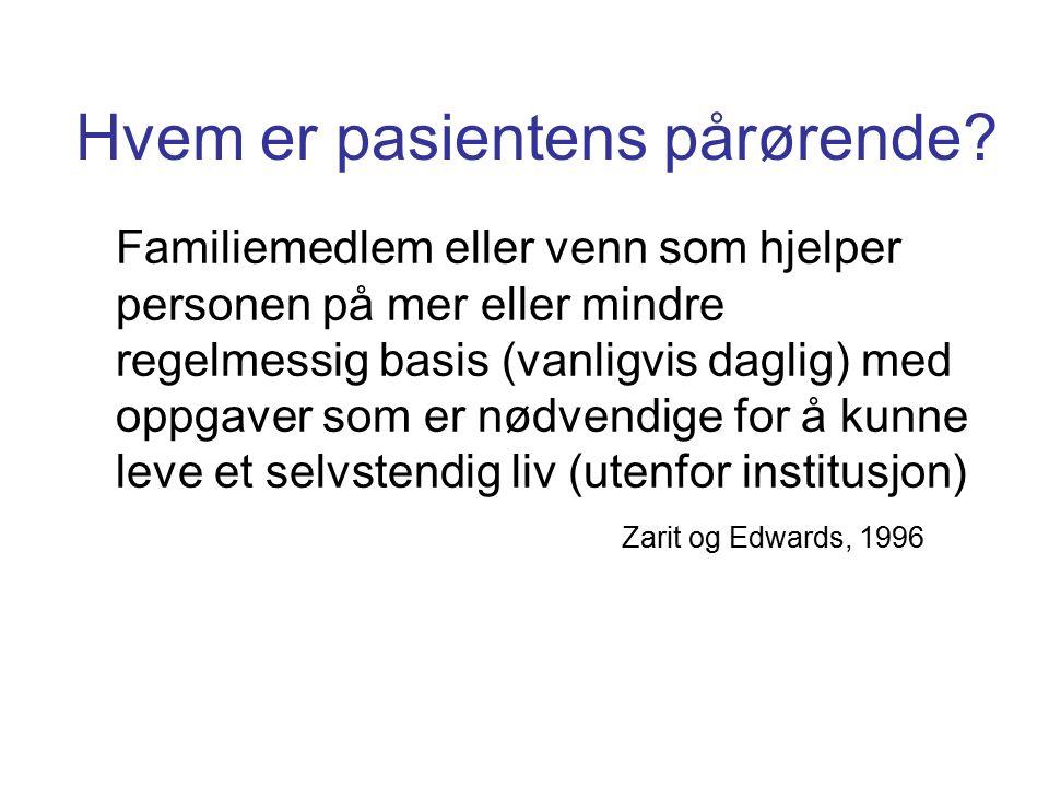 Hvem er pasientens pårørende.
