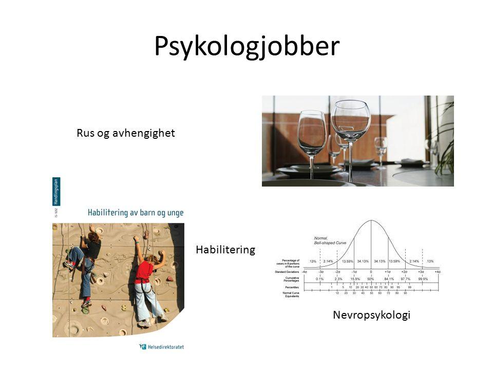 Psykologjobber Rus og avhengighet Habilitering Nevropsykologi