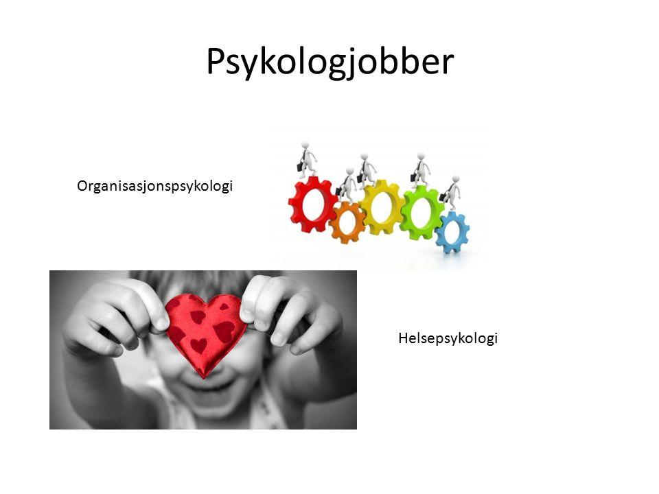 Psykologjobber Organisasjonspsykologi Helsepsykologi