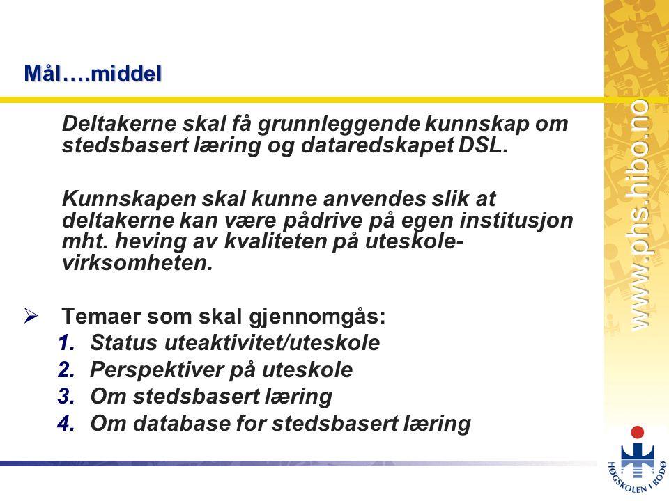 OMJ-98 Referanser Limstrand, T., 2004.Perspektiver på uteskole.