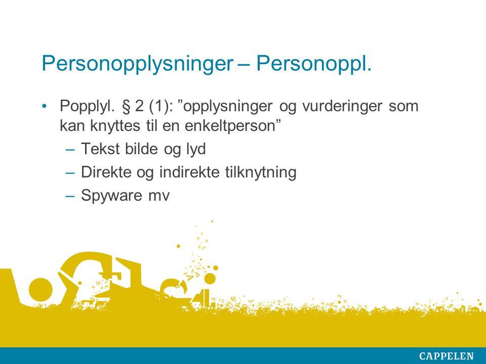 Personopplysninger – Personoppl. Popplyl.