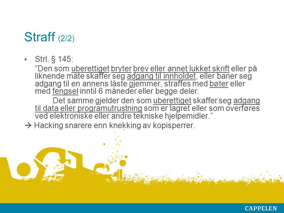 Straff (2/2) Strl.