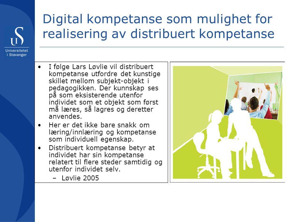 Digital kompetanse som taus kunnskap En kan argumentere at det med den digitale kompetansen er som det er å sykle.