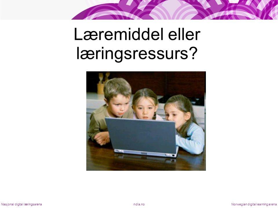 Læremiddel eller læringsressurs.