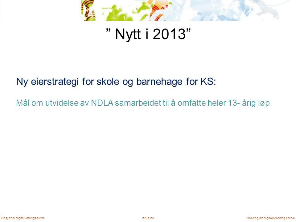Status NDLA NDLA lykkes i å kjøpe inn og levere innhold Brukertilfredshet (Synovates, og Athenas brukerundersøkelse) Diskusjon rundt NDLA er preget av dialog Solid bruk og fortsatt vekst ndla.noNasjonal digital læringsarenaNorwegian digital learning arena
