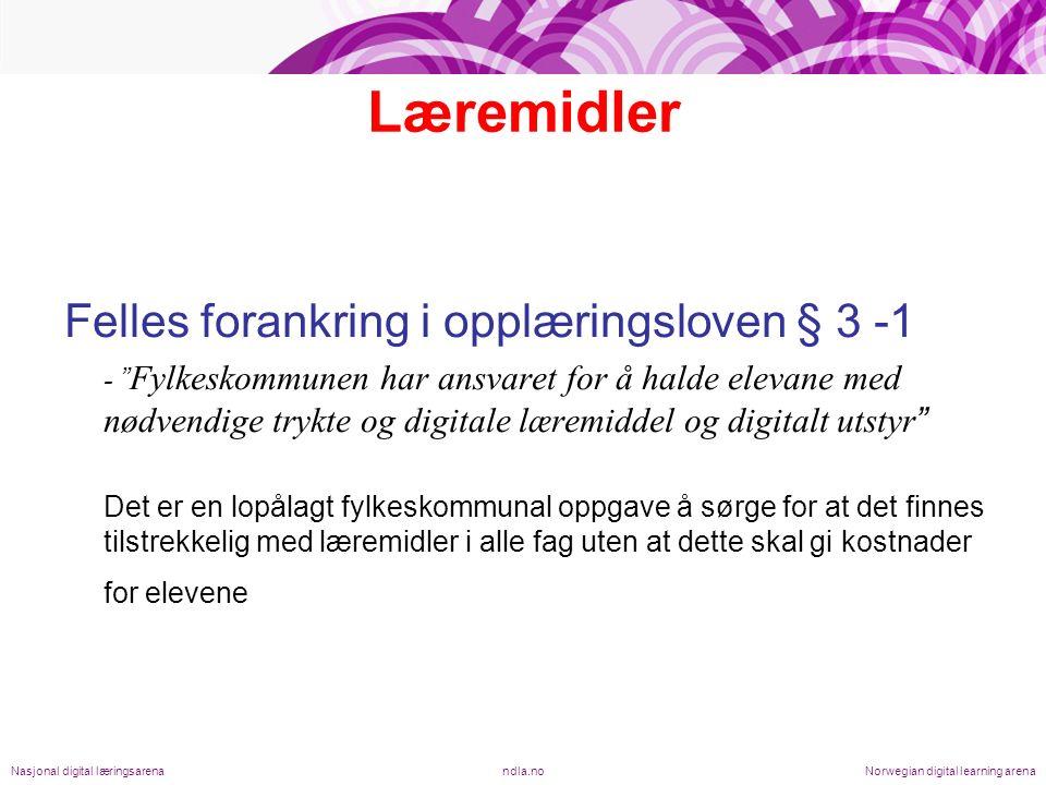 Solid bruk og fortsatt vekst ndla.noNasjonal digital læringsarenaNorwegian digital learning arena