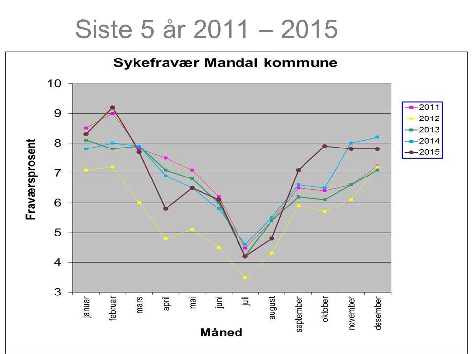Siste 5 år 2011 – 2015