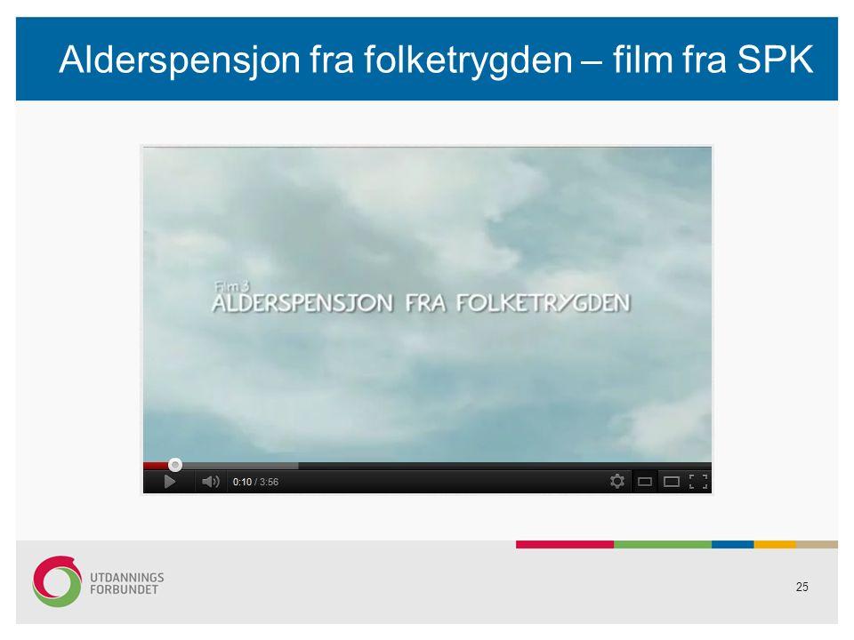 Alderspensjon fra folketrygden – film fra SPK 25