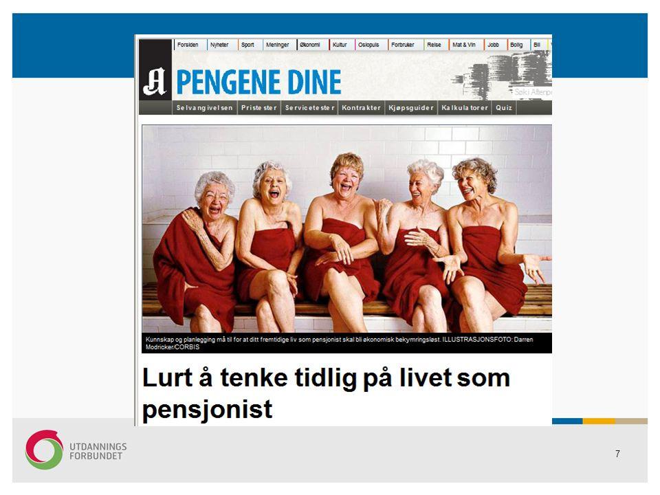 78 INFOADRESSER OM PENSJON http://www.nav.no (din pensjon)http://www.nav.no http://www.spk.no http://www.klp.no www.udf.no www.seniorpolitikk.no www.norskpensjon.no www.forsvarpensjon.no www.nyafp.no www.fafo.no www.minpensjon.no www.pensjonseksperten.no