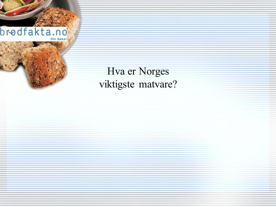 Hva er Norges viktigste matvare