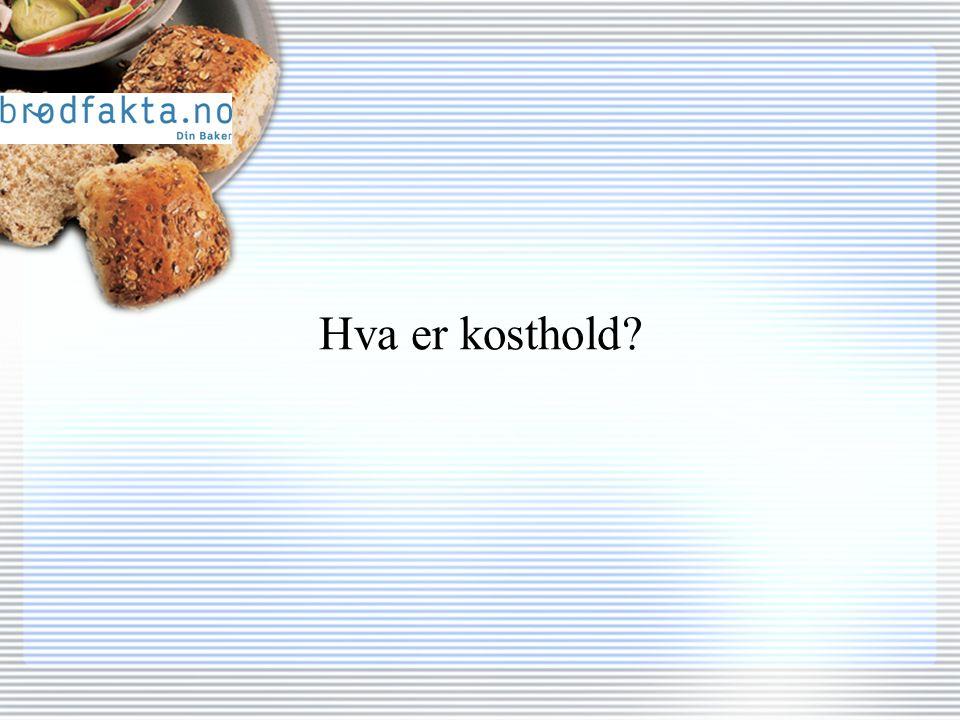 Hva er Norges viktigste matvare?