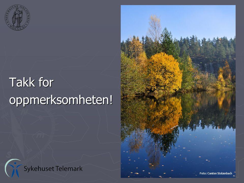 Takk for oppmerksomheten! Foto: Carsten Stolzenbach