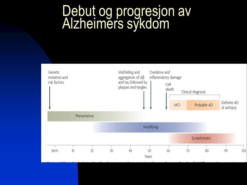 Debut og progresjon av Alzheimers sykdom