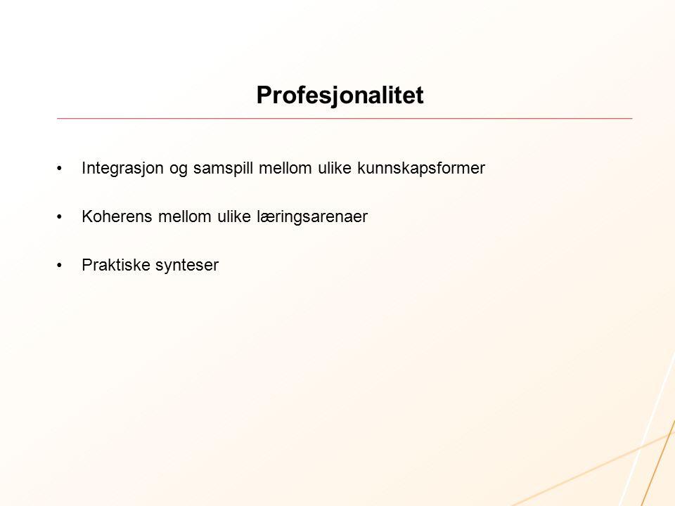 Praksisfeltet og fronesis Om Profkom «Basisgruppene og profkom har fungert godt, synes jeg.
