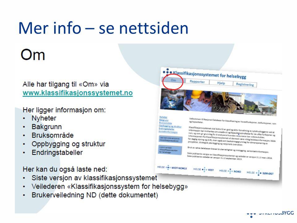Mer info – se nettsiden