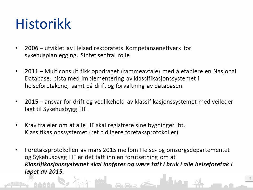 4 Historikk Ny nasjonal databasen (ND) for klassifikasjonssystemet, klar for bruk 2.september 2013.