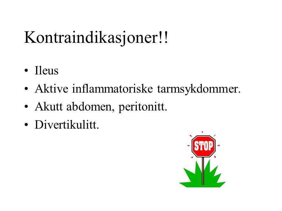 Ileus Aktive inflammatoriske tarmsykdommer. Akutt abdomen, peritonitt.