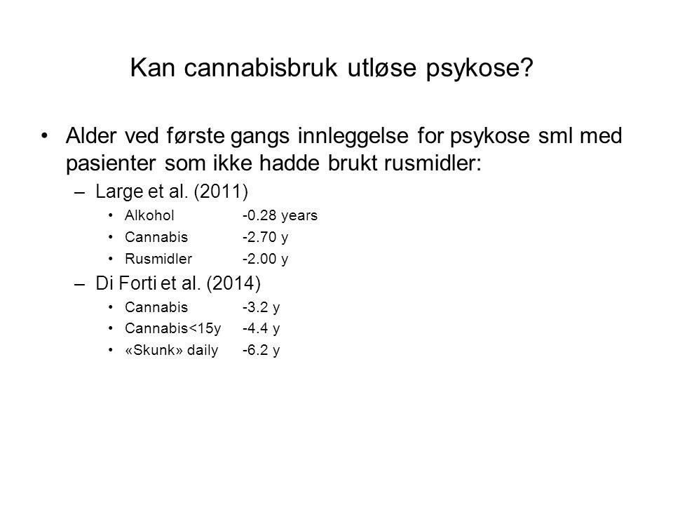 Kan cannabisbruk utløse psykose.