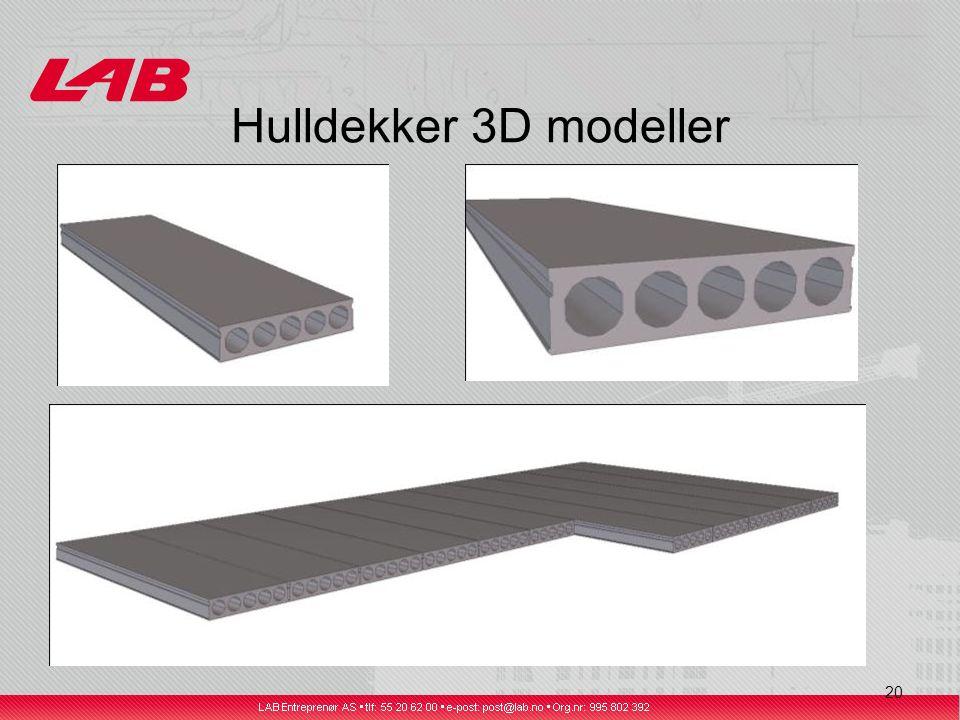 20 Hulldekker 3D modeller