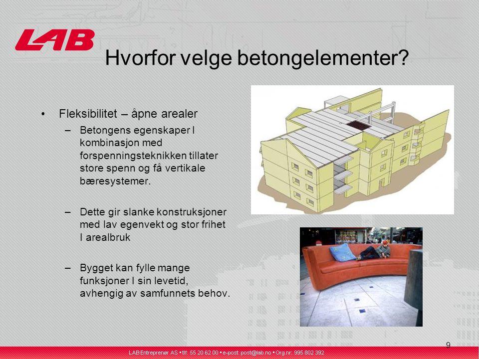 9 Hvorfor velge betongelementer.