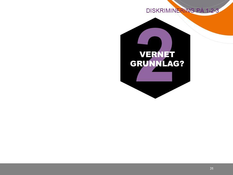 31 DISKRIMINERING PÅ 1-2-3 2 VERNET GRUNNLAG?