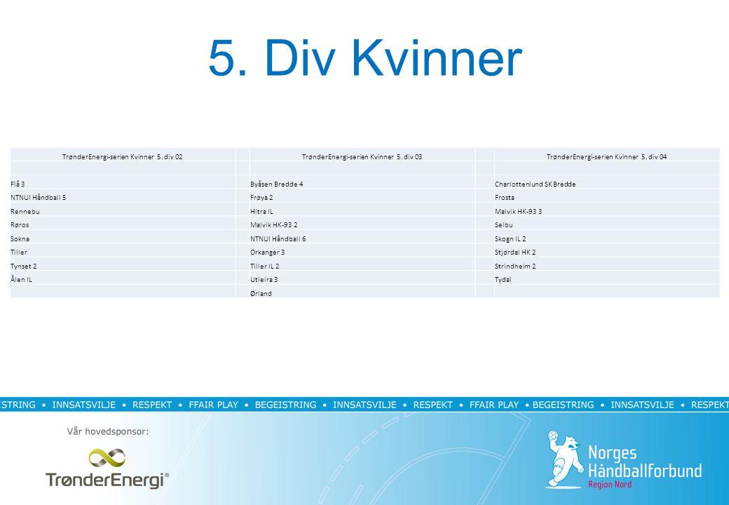 5. Div Kvinner TrønderEnergi-serien Kvinner 5. div 02TrønderEnergi-serien Kvinner 5.
