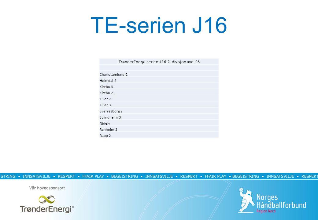 TE-serien J16 TrønderEnergi-serien J 16 2. divisjon avd.