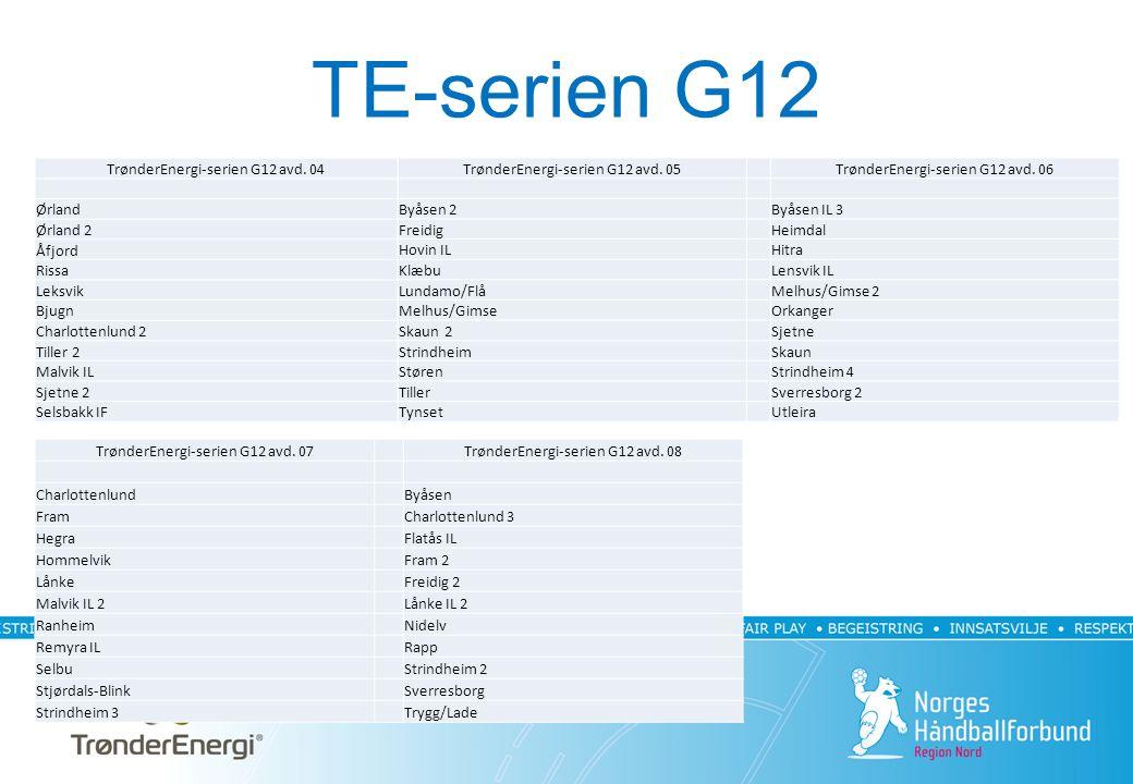 TE-serien G12 TrønderEnergi-serien G12 avd.