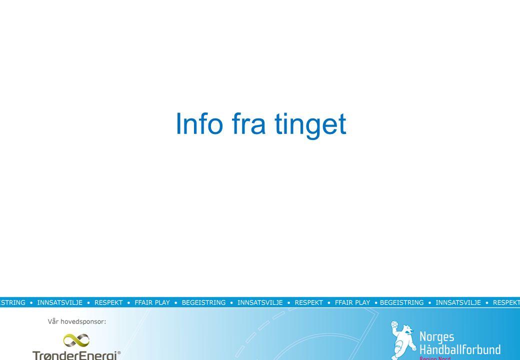 Forslag til avdelingsoppsett Kriterier til terminlisteoppsett