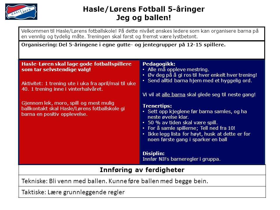 Hasle/Lørens Fotball 5-åringer Jeg og ballen.