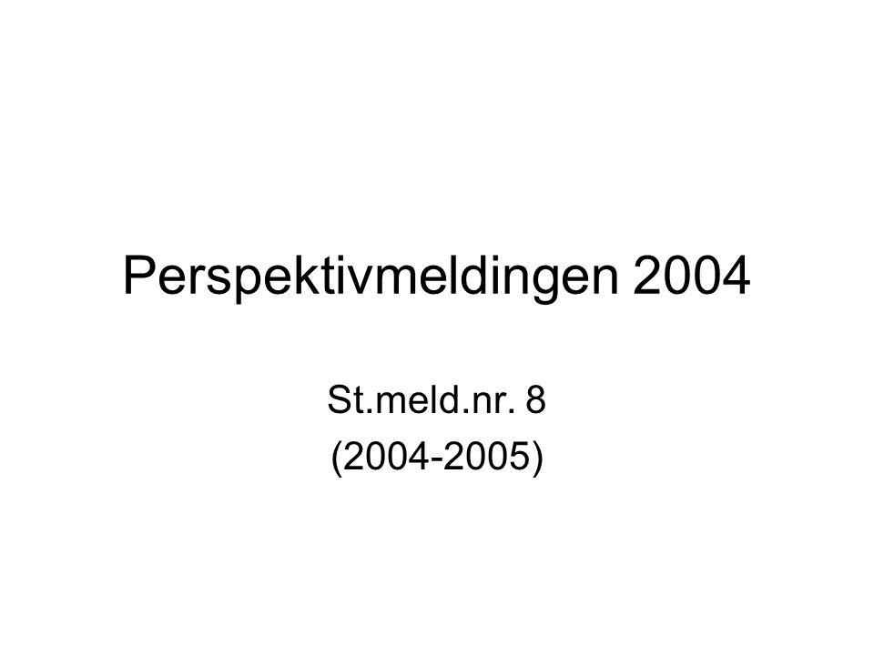 Perspektivmeldingen 2004 St.meld.nr. 8 (2004-2005)