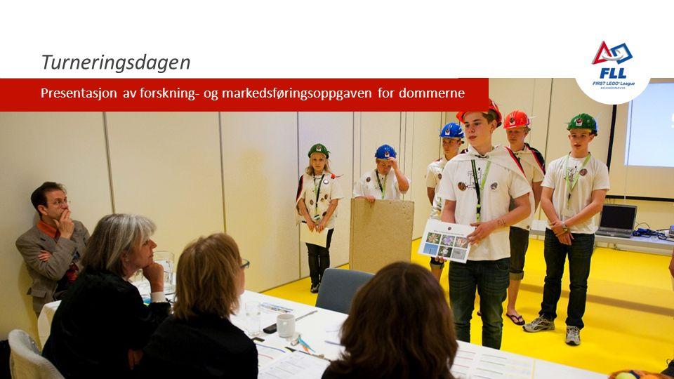 Turneringsdagen Presentasjon av forskning- og markedsføringsoppgaven for dommerne
