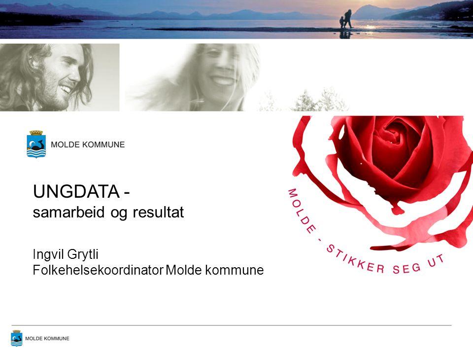 UNGDATA - samarbeid og resultat Ingvil Grytli Folkehelsekoordinator Molde kommune
