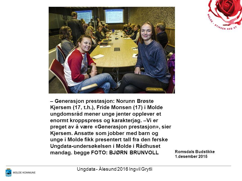 – Generasjon prestasjon: Norunn Brøste Kjersem (17, t.h.), Fride Monsen (17) i Molde ungdomsråd mener unge jenter opplever et enormt kroppspress og karakterjag.
