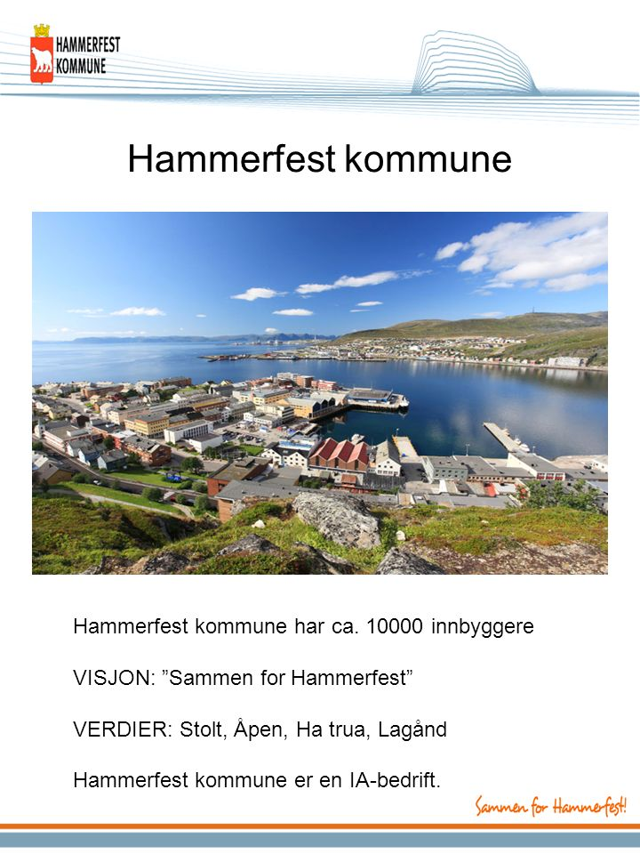 Hammerfest kommune Hammerfest kommune har ca.