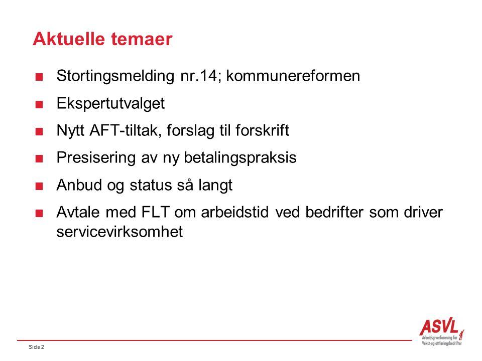 Side 3 Tema  «Godt jobba» - ny film  Avtale om pensjonistarbeid med KLP og FLT  Høstkonferansen 2.