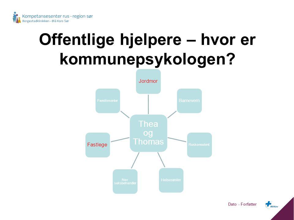 Offentlige hjelpere – hvor er kommunepsykologen.