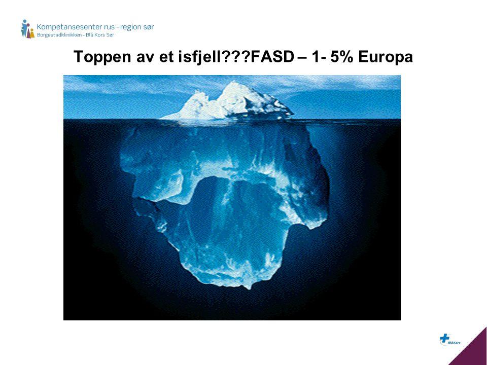 Toppen av et isfjell FASD – 1- 5% Europa
