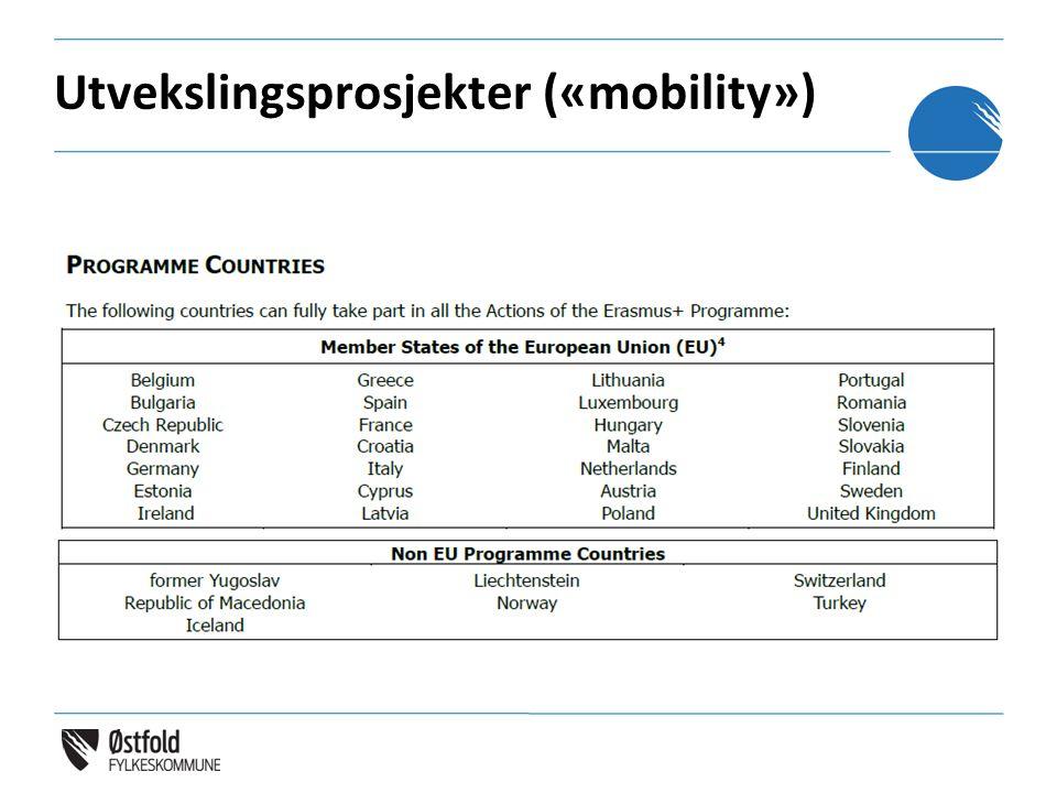 Utvekslingsprosjekter («mobility»)