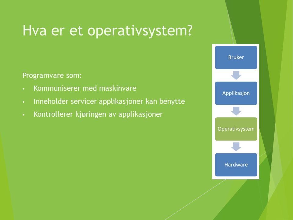 Hva er et operativsystem.